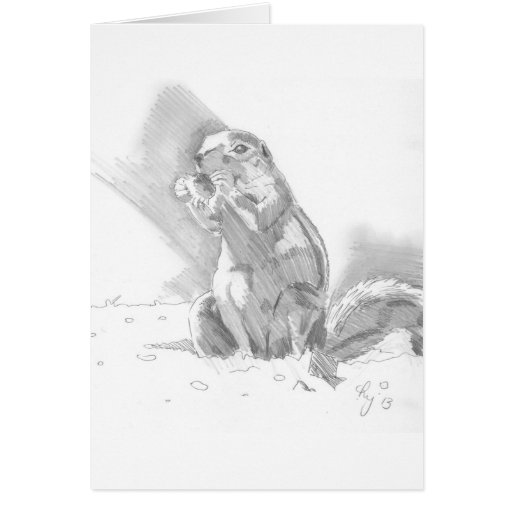 dibujo de lápiz del perro de las praderas tarjetón