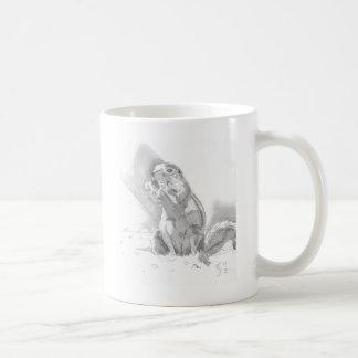 dibujo de lápiz del perro de las praderas taza de café