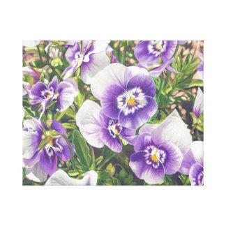 Dibujo de lápiz púrpura blanco del color de los impresiones en lona