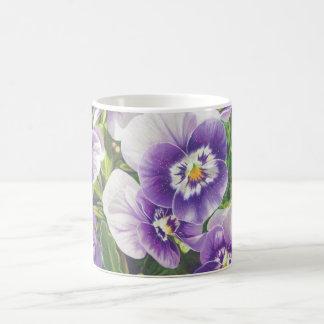 Dibujo de lápiz púrpura blanco del color de los taza de café
