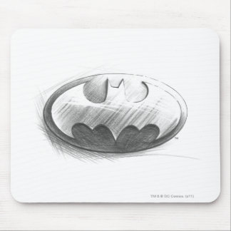 Dibujo de las insignias de Batman Alfombrilla De Raton