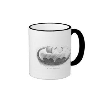 Dibujo de las insignias de Batman Taza A Dos Colores