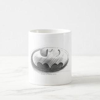 Dibujo de las insignias de Batman Taza De Café