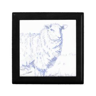 dibujo de las ovejas cajas de joyas
