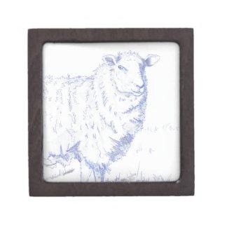 dibujo de las ovejas cajas de recuerdo de calidad