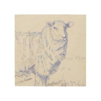 dibujo de las ovejas en la madera cuadros de madera