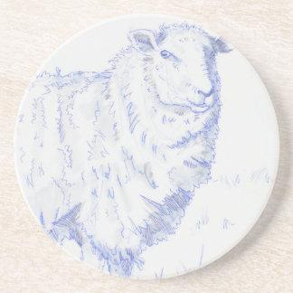 dibujo de las ovejas posavasos para bebidas