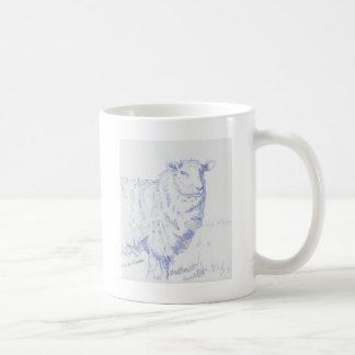 dibujo de las ovejas taza clásica