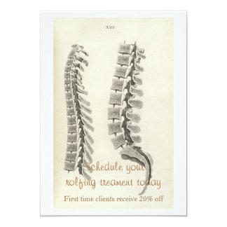 Dibujo de las vértebras invitación 12,7 x 17,8 cm