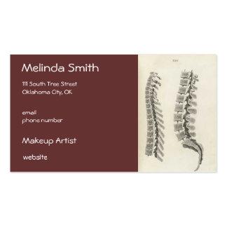 Dibujo de las vértebras tarjetas de visita