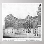 Dibujo de los arquitectos del hospital de Middlese Impresiones