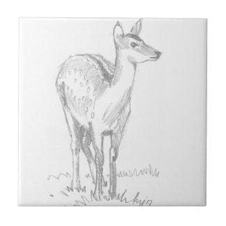 Dibujo de los ciervos teja