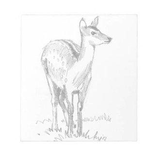 Dibujo de los ciervos blocs de notas