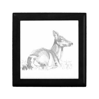 Dibujo de los ciervos caja de recuerdo