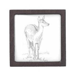Dibujo de los ciervos caja de regalo de calidad