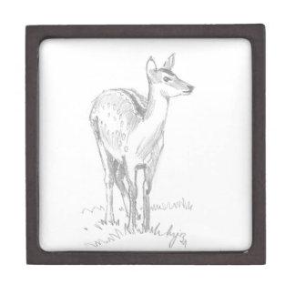 Dibujo de los ciervos cajas de joyas de calidad