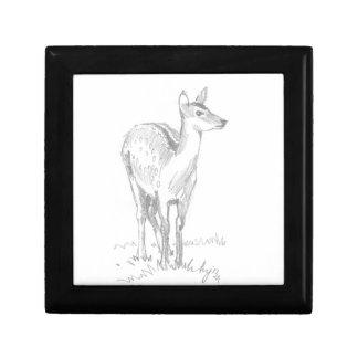 Dibujo de los ciervos cajas de regalo