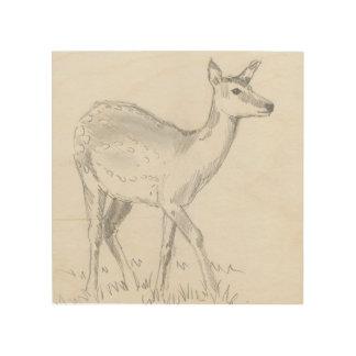 dibujo de los ciervos en la madera cuadros de madera