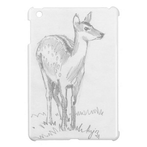 Dibujo de los ciervos iPad mini fundas