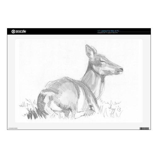 Dibujo de los ciervos calcomanías para 43,2cm portátiles
