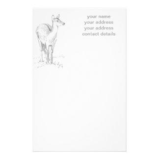 Dibujo de los ciervos papelería personalizada