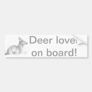 Dibujo de los ciervos pegatina para auto