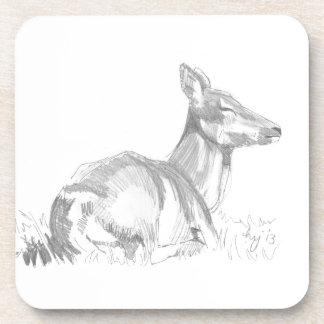 Dibujo de los ciervos posavaso