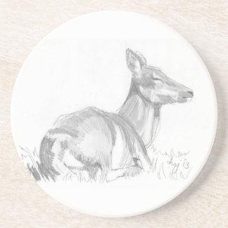Dibujo de los ciervos posavasos cerveza