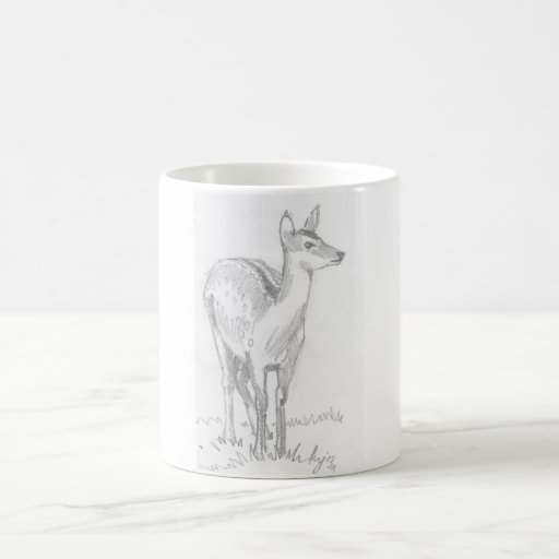 Dibujo de los ciervos tazas de café