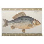 Dibujo de los pescados de agua dulce de la carpa mantel