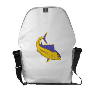 Dibujo de los pescados de atún de albacora bolsa de mensajería