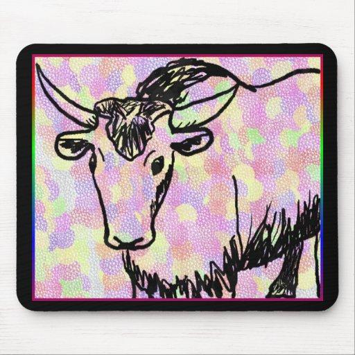 Dibujo de los yacs con los modelos del arco iris tapete de ratón