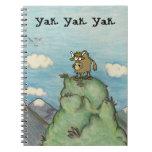 Dibujo de los yacs del dibujo animado en el top ya cuaderno