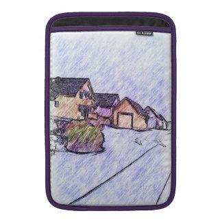 Dibujo de muchas casas funda para macbook air