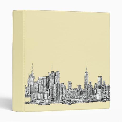 Dibujo de NYC en la marfil poner crema
