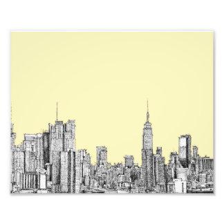 Dibujo de NYC en la marfil poner crema Fotografia