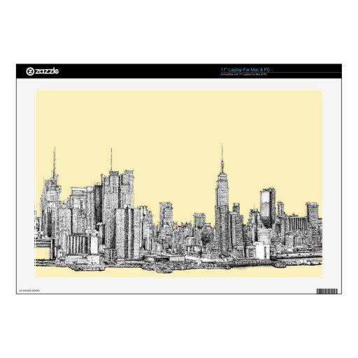 Dibujo de NYC en la marfil poner crema Portátil 43,2cm Skin