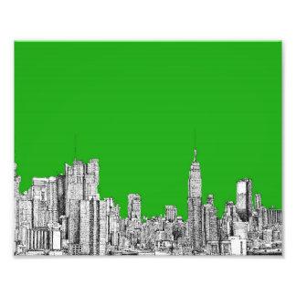 Dibujo de NYC verde claro Fotografia