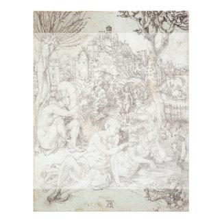 "Dibujo de Pupila Augusta de Albrecht Durer Folleto 8.5"" X 11"""