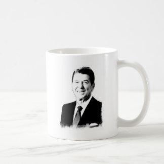 Dibujo de Ronald Reagan Tazas De Café