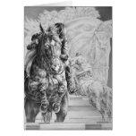 Dibujo de salto del caballo por el cisne de Kelli Tarjetas