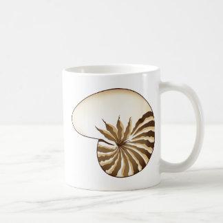 Dibujo de Shell del nautilus Taza Básica Blanca