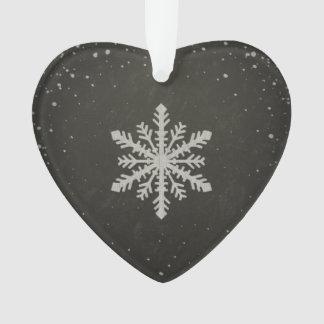 Dibujo de tiza blanco del copo de nieve del