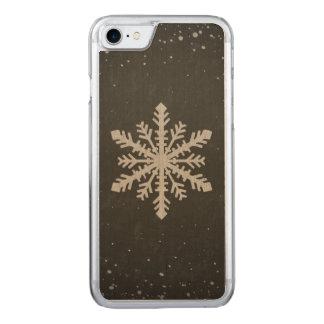 Dibujo de tiza blanco del copo de nieve del funda para iPhone 7
