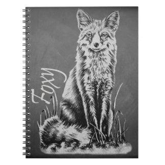 Dibujo de tiza del arte animal del Fox en la Libreta