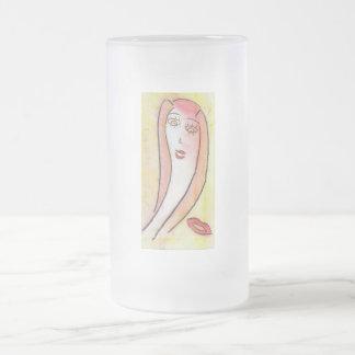 Dibujo de tiza espiritual, taza femenina de la