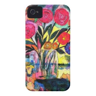 Dibujo de un florero con las flores Case-Mate iPhone 4 cárcasas