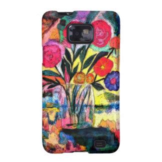 Dibujo de un florero con las flores galaxy s2 fundas