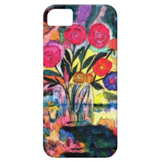 Dibujo de un florero con las flores iPhone 5 protector