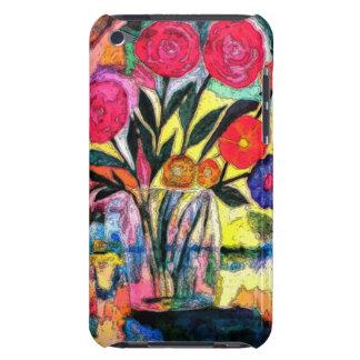 Dibujo de un florero con las flores iPod touch Case-Mate funda